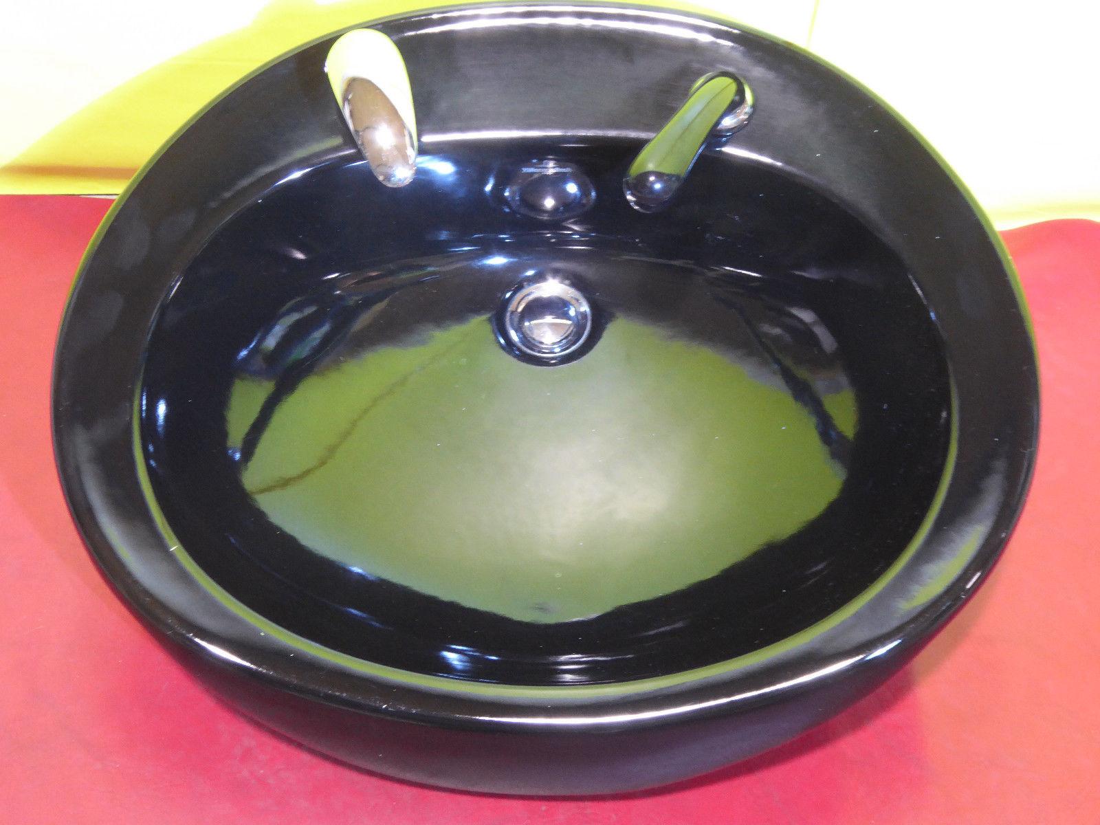 Welonda Vorwärtswaschbecken (Schwarz) Image